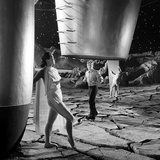 Unidentified Dancers on Set of Film 'Destination Moon'  1950