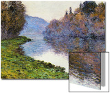 The Seine at Jenfosse, 1884 Acrylique par Claude Monet