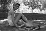 Kathy Jenkins  17  with Her Dog  Kentfield  California  1960