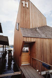 View of the Front Door and Facade of a Wooden Floating Home in Portage Bay  Seattle  Wa  1971