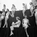 First Miss Universe Contest  Miss France and Miss Israel  Long Beach  California 1952