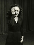 Singer Edith Piaf Performing  1946