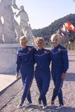 Usa Gymnasts Sharon Richardson  Doris Fuchs  and Muriel Davis-Grossfeld  1960 Rome Olympic Games
