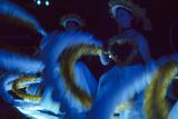 Girls Dancing in Glow-In-The-Dark Costumes  at the Takarazuka Theatre  Tokyo  Japan  1962