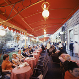 Rome's Cafe De Paris on Via Veneto  a Favorite After-Hours Sitting Spot for Natives and Tourists