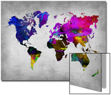 World Watercolor Map 13