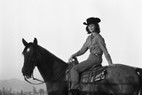 Lee Archer  24  Riding a Horse at OB Llyod Stables in Scottsdale  Arizona  October 1960