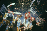 Raining Gold Coins as Barry Goldwater Wins the Republican Nomination  San Francisco  CA  1964