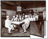 Chefs Eating Lunch at Sherry's Restaurant, New York, 1902 Acrylique par Byron Company