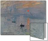 Impression soleil levant, 1872 Acrylique par Claude Monet
