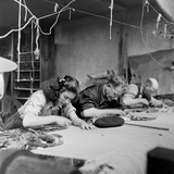 Workroom with Weft Threads to Create Tapestries  Aubusson  France  June 1946