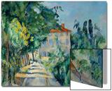 Maison Au Toit Rouge- House with a Red Roof, 1887-90 Acrylique par Paul Cézanne