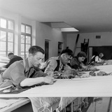 Artists Designing Aubusson Tapestry Weaving in France  1946