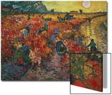 Le vignoble rouge, vers 1888 Acrylique par Vincent Van Gogh