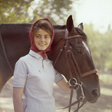 1960: American Dressage Rider  Patricia Galvin with Horse  Rath Patrick  1960 Rome Olympic Games