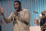 Joe Frazier Rehearsing with His Band Joe Frazier and the Knockouts for Don Rickles Show  1971