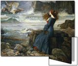 Miranda dans l'orage, 1916 Acrylique par John William Waterhouse