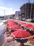 The Beachfront at Esterel Plage in Juan Les Pins on the French Riviera  France
