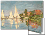Regatta at Argenteuil, C.1872 Acrylique par Claude Monet