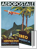 Advertisement for the French Airmail Service, 1929 Acrylique