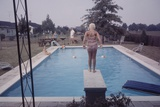 1959: Susan in Diving Stance During a Family Cookout  Trenton  New Jersey