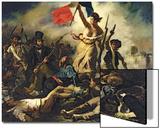 La Liberté menant le peuple, 28juillet1830 Acrylique par Eugene Delacroix