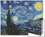 The Starry Night, June 1889 Acrylique par Vincent Van Gogh