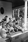 Lina Mccarroll Hosts 15 Visitors During Hospitality Weekend  Warrenton  North Carolina  1951