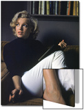 Marilyn Monroe Relaxing at Home Acrylique par Alfred Eisenstaedt
