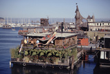 Two-Story Floating Home Covered in Hanging and Potted Plants  Sausalito  CA  1971