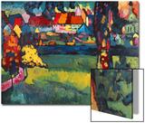Murnau, 1909 Acrylique par Wassily Kandinsky