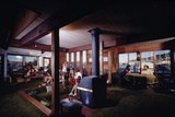 1971: People Attending a Party in the Sunken Living Room of a Floating Home  Sausalito  California