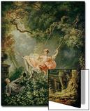 Le swing Acrylique par Jean-Honoré Fragonard