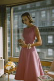 Model in a Pink  Trigere-Designed Cocktail Dress  New York  New York  1954