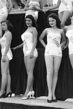 First Miss Universe Contest  Miss Venezuela and Miss Canada  Long Beach  CA  1952