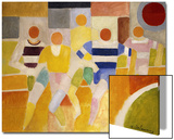The Runners, 1926 Acrylique par Robert Delaunay