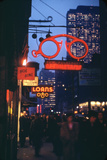 1945: Midtown Manhattan at Night with Neon Lights Advertising  New York  Ny