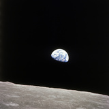 Apollo 8 View of Earth Rise over the Moon Acrylique
