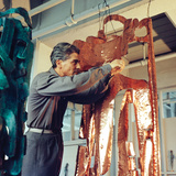 Mirko Basaldella  Post Wwii Modern Sculptor  Visits Harvard University During US Tour  1958