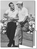 Golfer Jack Nicklaus and Arnold Palmer During National Open Tournament Acrylique par John Dominis
