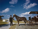 Horse-Drawn Carriage at Castillo De San Marcos National Monument  St Augustine  Florida  1946