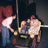 July 17 1955: Family Riding the Mr Toad Wild Ride  Disneyland  Anaheim  California