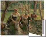 Les Lavandières, 1895 Acrylique par Camille Pissarro