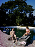 December 1946: Swimmers Relaxing by the Pool at Shaw Park Resort Hotel in Ocho Rios  Jamaica