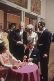 Patrons Attending the Los Angeles Museum of Art Opening Los Angeles  1965