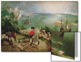 La chute d'Icare, c.1555 Acrylique par Pieter Bruegel The Elder