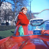 Debbie Reynolds in a Lincoln Futura Car in a Scene of 'It Started with a Kiss'  1959