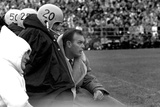 Players and their Coach  Murray Warmath  Minnesota-Iowa Game  Minneapolis  November 1960
