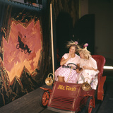 July 17 1955: Young Girls in the Mr Toad Wild Ride  Disneyland  Anaheim  California