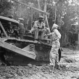 Brigadier General Lewis a Pick Speaks to Sgt William a King  Ledo Road  Burma  July 1944